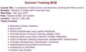 Summer Training 2018