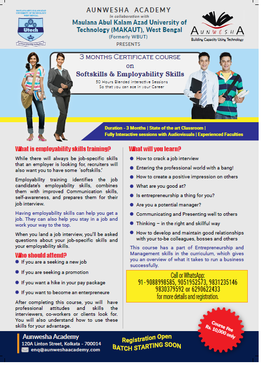 3 month program on Employability Skills